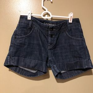 Express Jean shorts Darkwash perfect condition